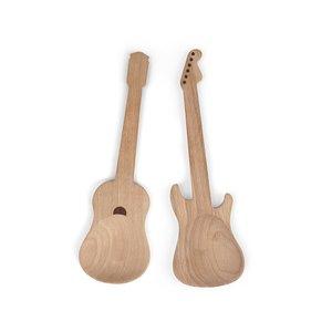 Kikkerland, Set de linguri pentru salată din lemn KIKKERLAND Guitar