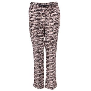 Pantaloni De Dama Cu Dungi Roz Cu Negru Maison Sco