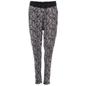 Pantaloni de damă Maison Scotch cu imprimeu zebră negru și alb