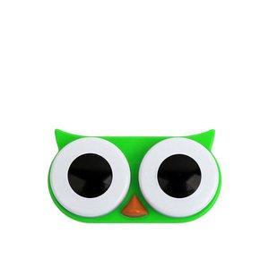 Cutie Pentru Lentile De Contact Bufnita Verde Kikkerland