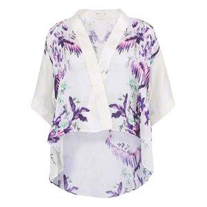 Kimono Cu Imprimeu Floral Pentru Femei Lavand - Alb