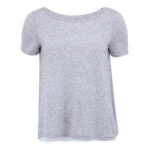 Tricou Vero Moda Marie gri deschis cu spate decupat