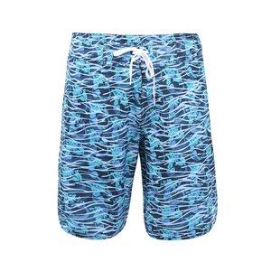 Șort bărbătesc elastic pentru înot de la adidas Originals - albastru cu verde