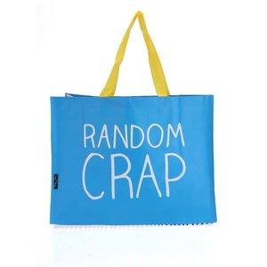 Geantă de cumpărături Happy Jackson Random Crap albastră