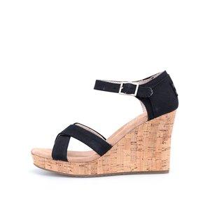 Sandale cu talpă wedge Toms Cork – negru