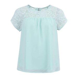 Bluză Vero Moda de damă cu mânecă scurtă, din dantelă - verde deschis