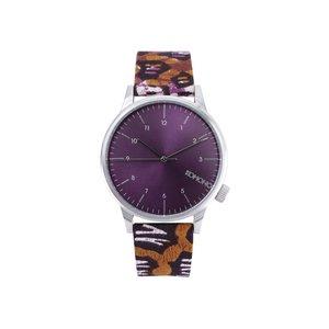 Ceasuri Winston unisex în combinația argintiu, violet și maro de la Komono