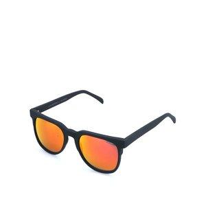 Ochelari de soare unisex Komono Riviera cu ramă neagră și lentile polarizate