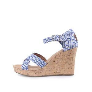 Sandale albastre cu platformă Toms