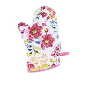 Mânușă de bucătărie Cooksmart Floral Romance albă cu imprimeu la pretul de 29.99