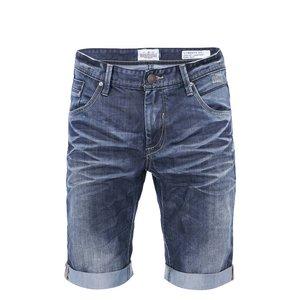 Pantaloni Din Denim Bleumarin  Cu Efect De Prespal