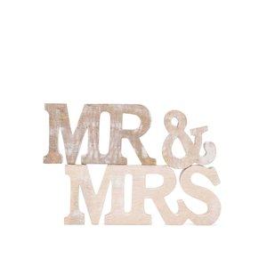 Sass & Belle, Decorațiune din lemn Sass & Belle Mr. & Mrs.