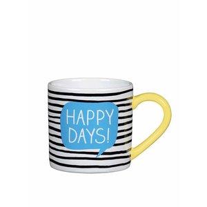 Cană Happy Jackson Happy Days alb-negru la pretul de 47.99