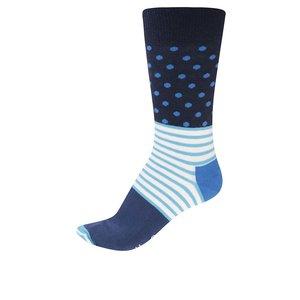 Happy Socks, Șosete pentru bărbați cu model turcoaz și albastru Stripe Dot de la Happy Socks