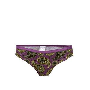 Happy Socks, Chiloți de damă Happy Socks violet, cu imprimeu cașmir