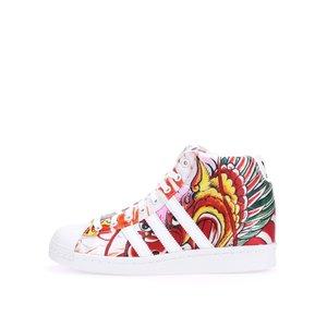 Teniși de damă Adidas Superstar colorați, cu platformă ascunsă