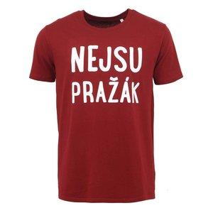 """ZOOT Originál, Tricou bărbătesc vișiniu ZOOT Original """"I'm not from Prague"""""""