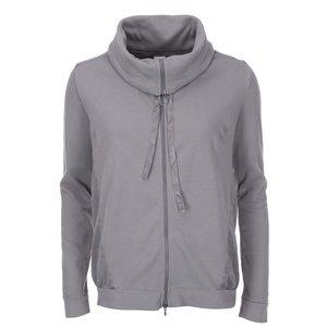 Jachetă de trening cu fermoar, cu guler înalt, gri, DEHA