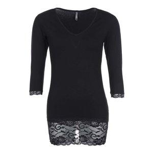 Bluză Haily's Samantha neagră, cu dantelă la pretul de 47.99