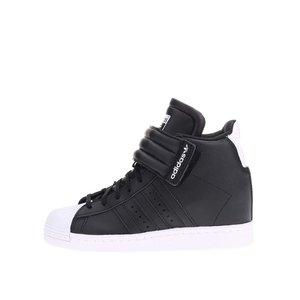 Pantofi sport negri de damă, cu platformă, adidas Originals Superstar