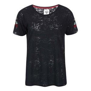 Tricou de damă cu flori Bellfield Brierley – negru
