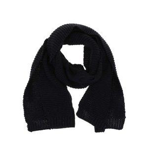 Pieces, Eșarfă Rifka neagră tricotată de la Pieces