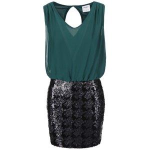 Rochie Cu Paiete Vero Moda Minna - Verde Si Negru