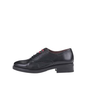 Pantofi negri Oxford din piele, OJJU la pretul de 265.78
