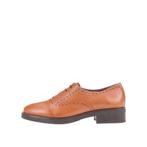 Pantofi Oxford OJJU din piele maro la pretul de 265.78