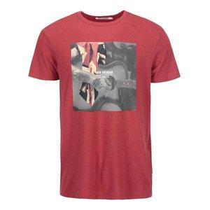 Tricou roșu cu imprimeu chitară de la The Original Ben Sherman la pretul de 77.5