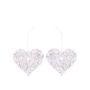 Sass & Belle, Set de două inimioare albe de la Sass & Belle