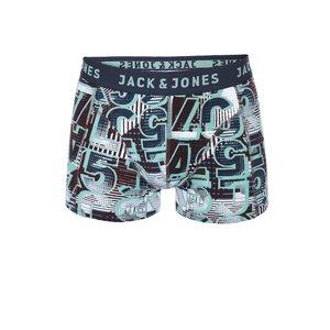 Boxeri albaștri cu imprimeu verde Jack & Jones Logo de la Zoot.ro
