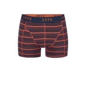 Jack & Jones, Boxeri cu dungi portocalii-albastre JACK & JONES Stripe