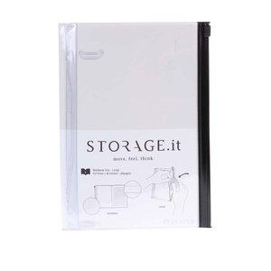 Caiet Storage.it crem cu copertă de plastic de la Mark's