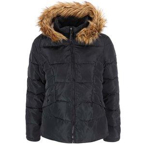 Jachetă cu glugă neagră Vero Moda Kelly