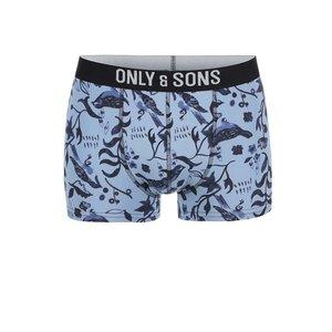 Boxeri albaștri cu imprimeu de la ONLY & SONS Sam