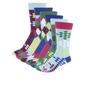 Oddsocks, Set 6 șosete bărbătești colorate tip golf de la Oddsocks Fore – set de șase