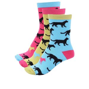 3 șosete colorate Oddsocks Holly cu imprimeu cu animale sălbatice pentru femei la pretul de 32.99
