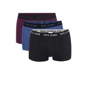 Pepe Jeans, Set de boxeri Pepe Jeans Pinner – albastru, violet și negru