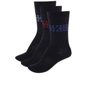 Set de trei perechi de șosete – negre Pepe Jeans Wapping