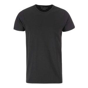 Tricou simplu cu mânecă scurtă Jack & Jones – negru