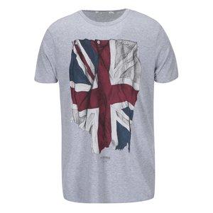 Tricou de la Ben Sherman, cu steagul Marii Britanii – gri