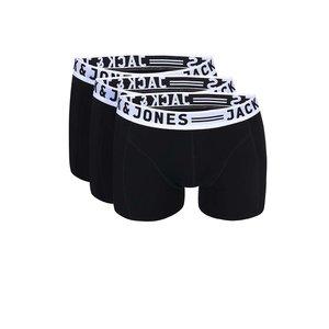 Jack & Jones Sense Set de trei perechi de boxeri – negru de la Zoot.ro