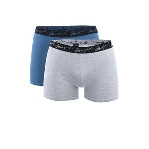 Set Boxeri Marginal - Gri + Albastru - 2 Perechi