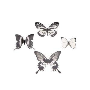 Set de 16 abțibilduri pentru perete cu fluturi Umbra – Negru