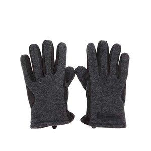 Mănuși negre din piele Lindbergh