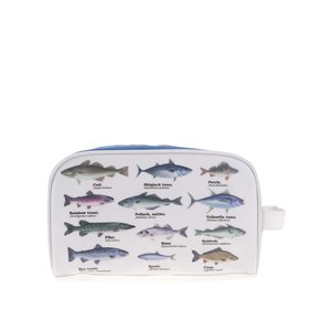Gift Republic, Trusă de igienă albă cu imprimeu cu pești Gift Republic