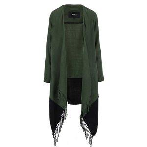 VILA, Cardigan VILA Kaia – negru și verde