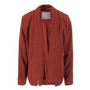 Blazer cu buzunare Vero Moda Marianne – roșu-maro