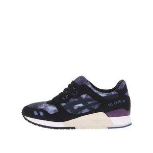 Pantofi sport de damă din piele negri cu violet ASICS Gel Lyte III